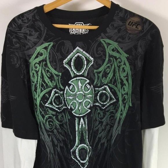9b6b4688 MMA ELITE Shirts | Ufc Mens L Sleeve Graphic Tshirt 2xl | Poshmark